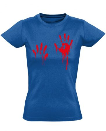 Piros pacsi traumatológiai női póló (kék)