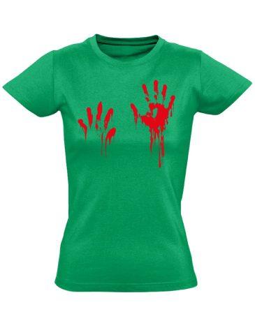 Piros pacsi traumatológiai női póló (zöld)