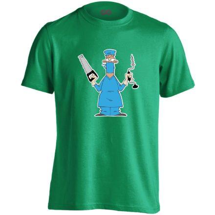 Fúr-Farag traumatológiai férfi póló (zöld)