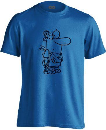 Kösz Jól Vagyok traumatológiai férfi póló (kék)