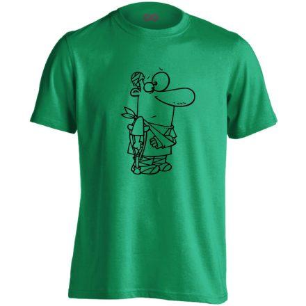 Kösz Jól Vagyok traumatológiai férfi póló (zöld)