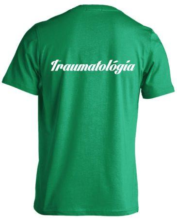 Traumatológia férfi póló (zöld)