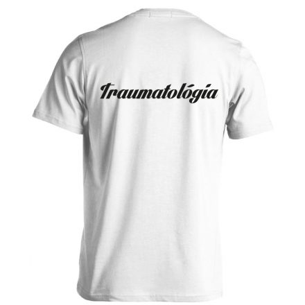 Traumatológia férfi póló (fehér)