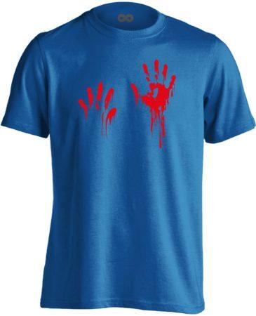 Piros pacsi traumatológiai férfi póló (kék)