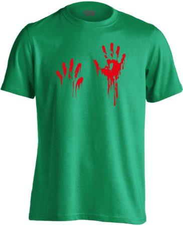 Piros pacsi traumatológiai férfi póló (zöld)