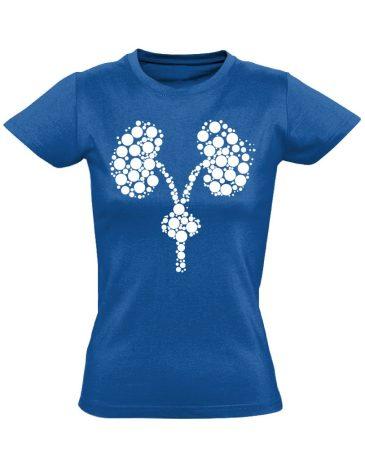 Kiválasztás urológiai női póló (kék)