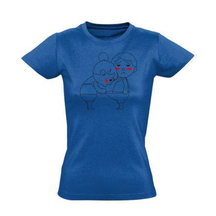 Kukucs! urológiai női póló (kék)