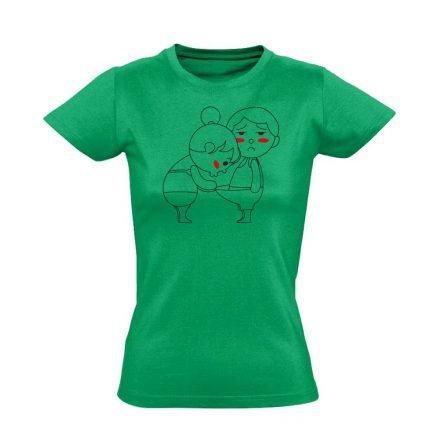 Kukucs! urológiai női póló (zöld)