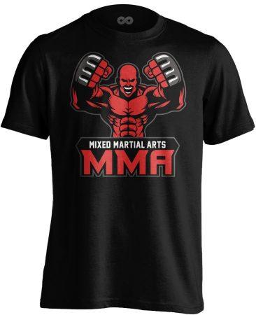 Red Fighter MMA póló (fekete)
