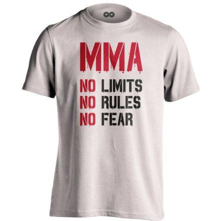 No Limits No Rules No Fear MMA póló (fehér)