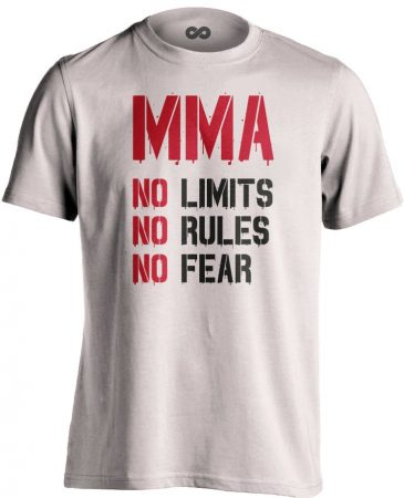 No Limits No Rules No Fear MMA póló (fehér)