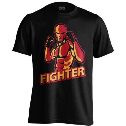 Fighter MMA póló (fekete)