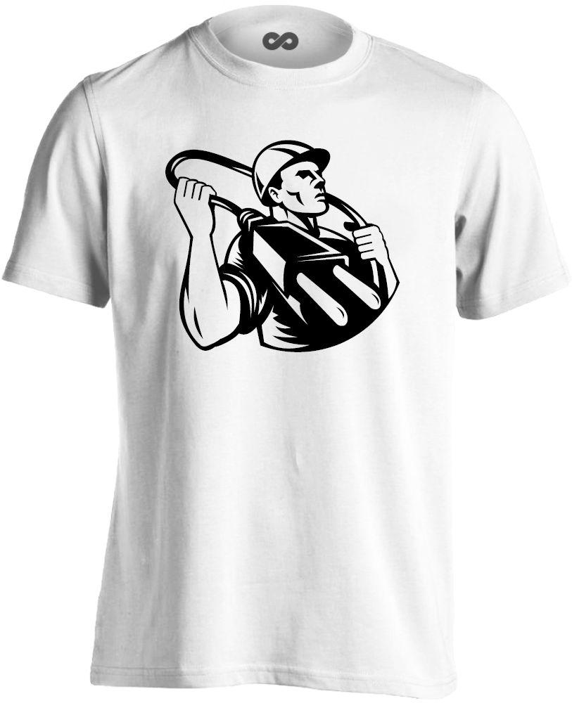 a7d8b8eb44 Vállamon a Villa villanyszerelő férfi póló (fehér)