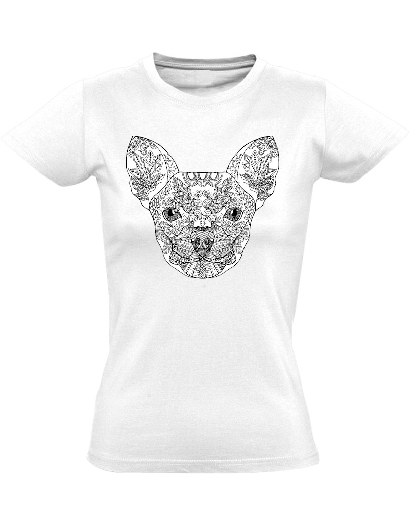 Kifestő csivavás női póló (fehér) - PólóVerzum 0462641749