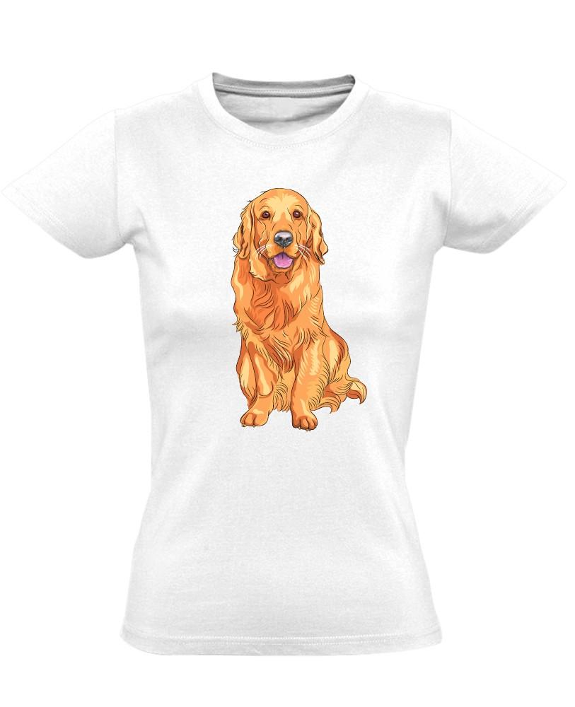 ARANYos golden retrieveres női póló (fehér) - PólóVerzum 0e4a828c1c