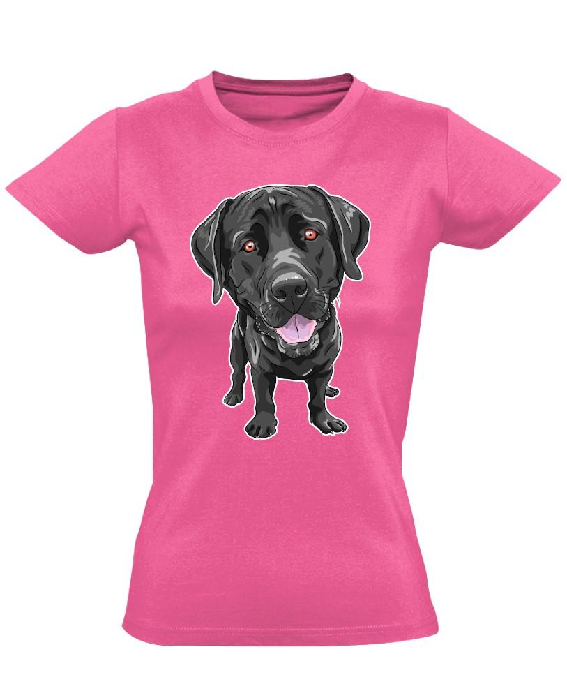 IgézőSzemek labradoros női póló (rózsaszín) - PólóVerzum 2f08d4e251