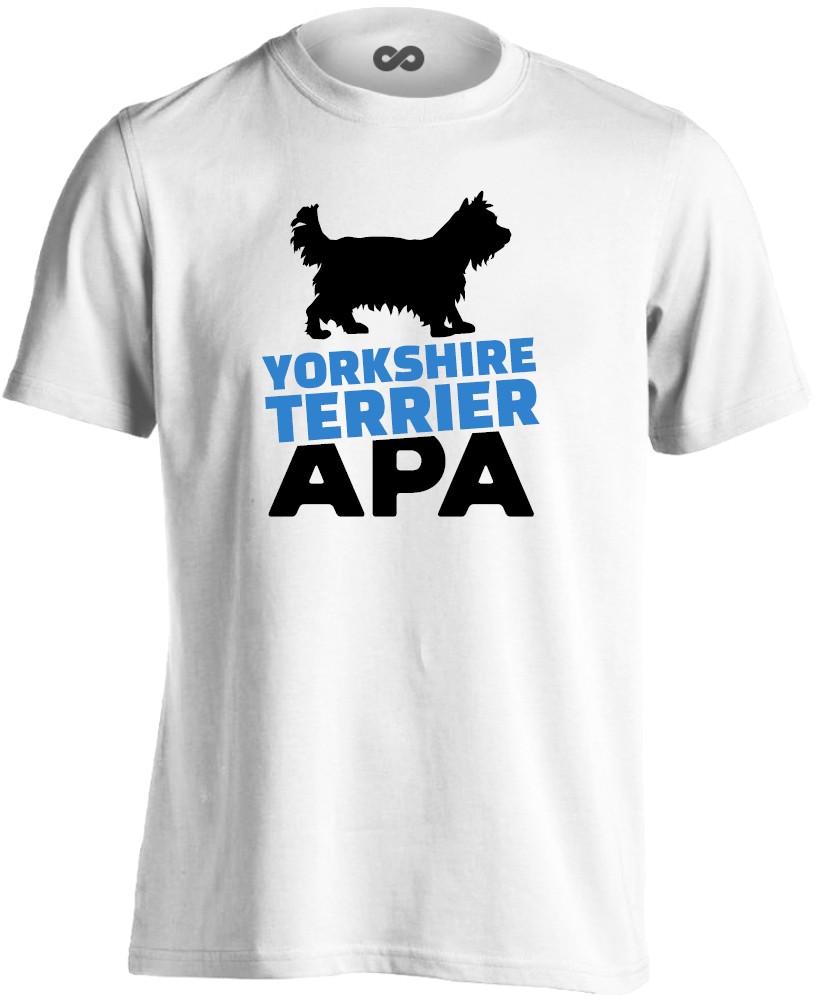 e0187478ee YorkieApa yorkshire terrieres férfi póló (fehér) - PólóVerzum