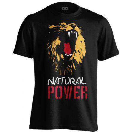 Natural Power Lion body building póló (fekete)