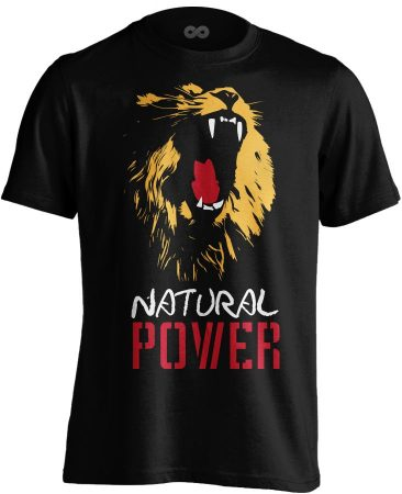 Natural Power Lion body building póló (fekete)