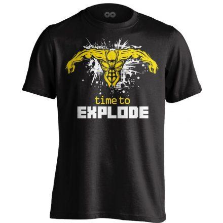 Time to Explode body building póló (fekete)