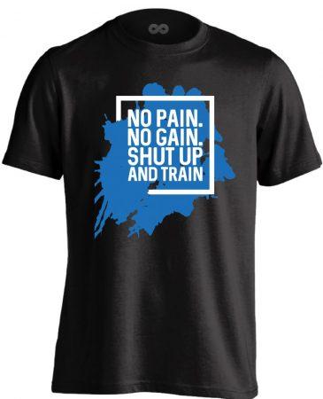 Shut Up and Train crossfit férfi póló (fekete)