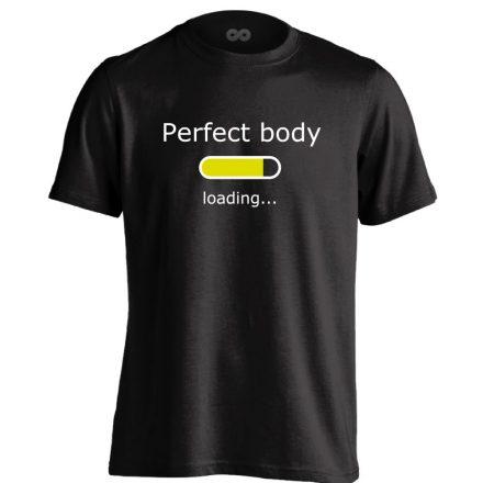 Perfect Body Loading crossfit férfi póló (fekete)