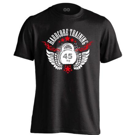 Hardcore Training crossfit férfi póló (fekete)