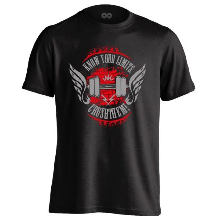 Crush Your Limits crossfit férfi póló (fekete)