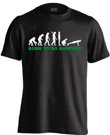 Born to Burpees crossfit férfi póló (fekete)