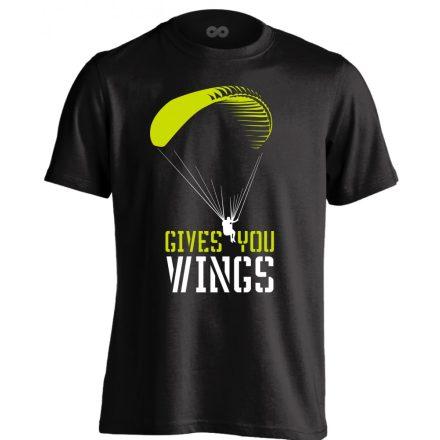 Gives You Wings siklóernyős férfi póló (fekete)
