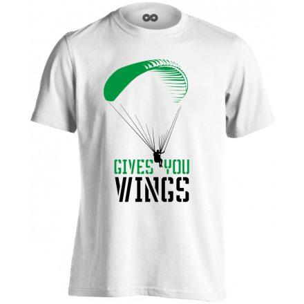 Gives You Wings siklóernyős férfi póló (fehér)