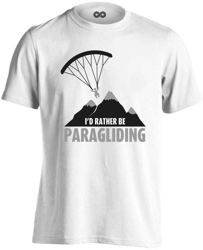 28408a75c0 I'd Rather Be Paragliding siklóernyős férfi póló (fehér) - PólóVerzum