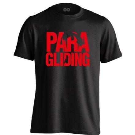 Paragliding siklóernyős férfi póló (fekete)