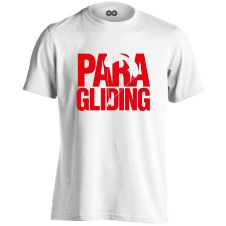 Paragliding siklóernyős férfi póló (fehér)