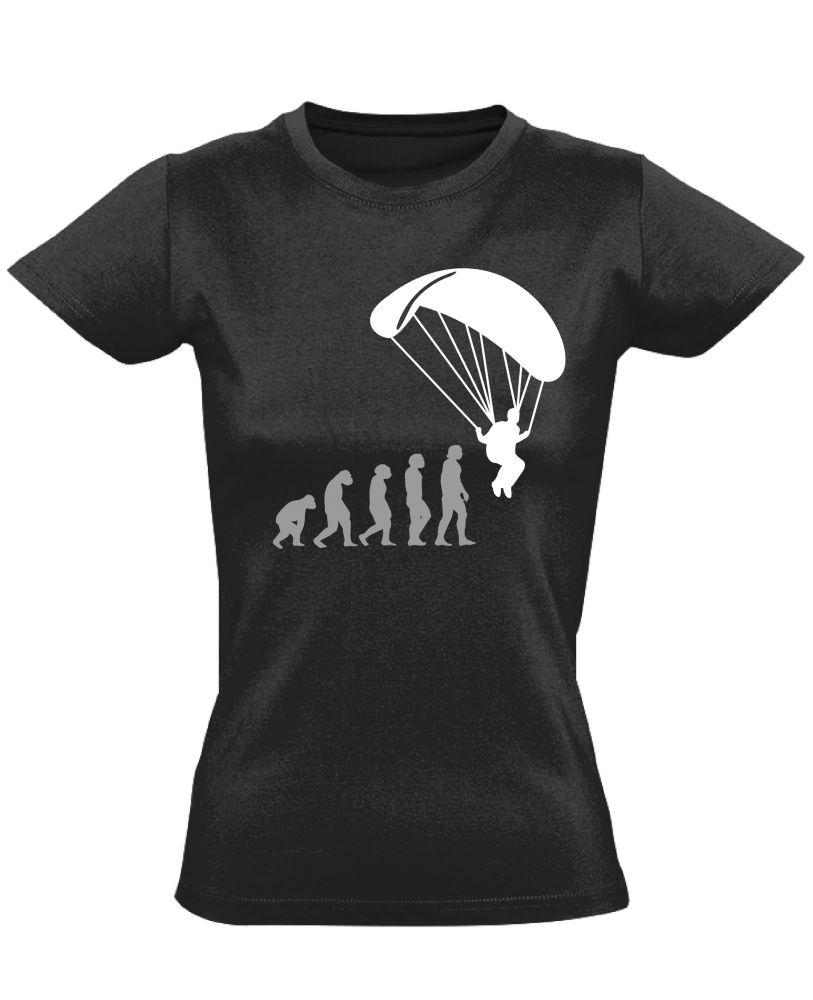 41f5da2fd1 Evolution siklóernyős női póló (fekete)