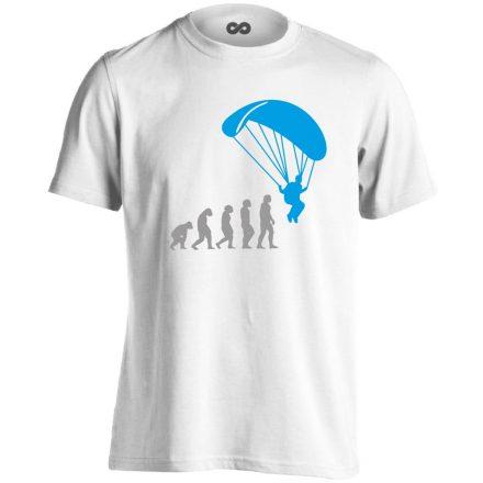 Evolution siklóernyős férfi póló (fehér)