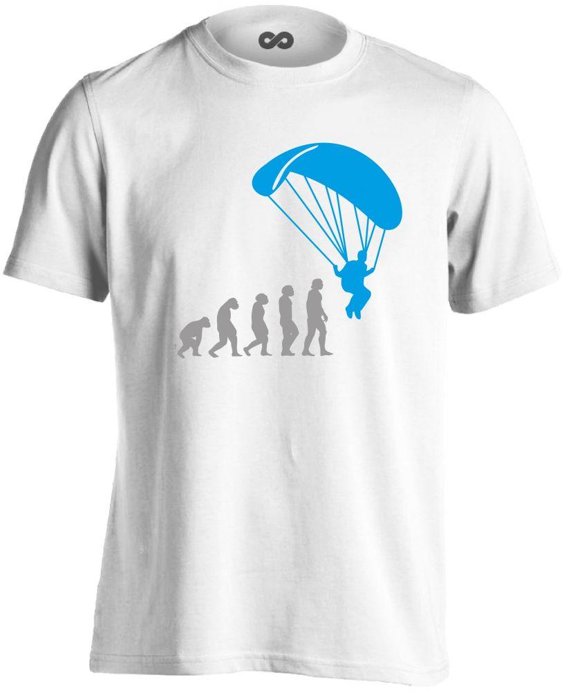 d059730d0e Evolution siklóernyős férfi póló (fehér)