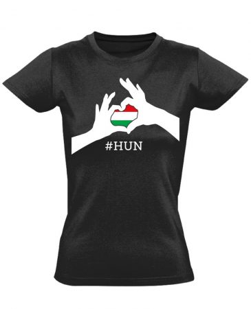 Magyarország, szeretlek! női póló (fekete)
