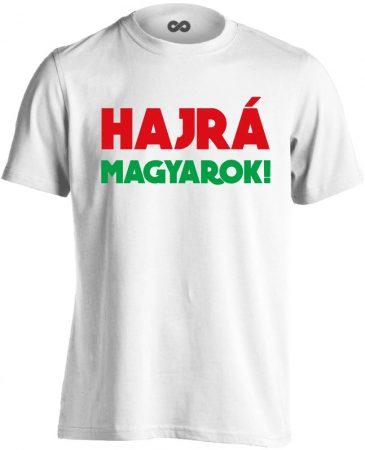 Hajrá magyarok! férfi póló (fehér)