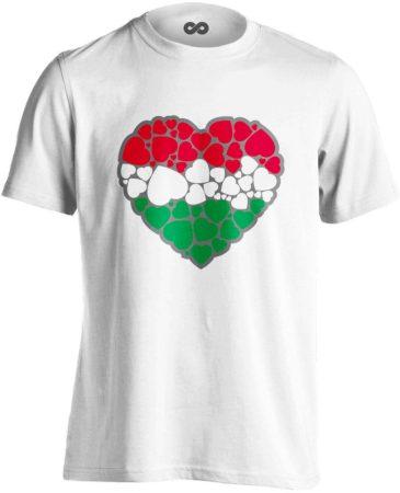 EgyüttDobban férfi póló (fehér)