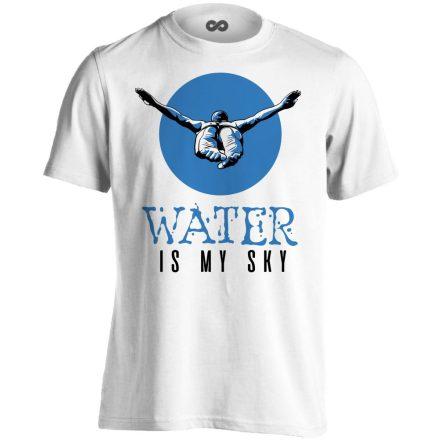 Water Is My Sky úszó férfi póló (fehér)