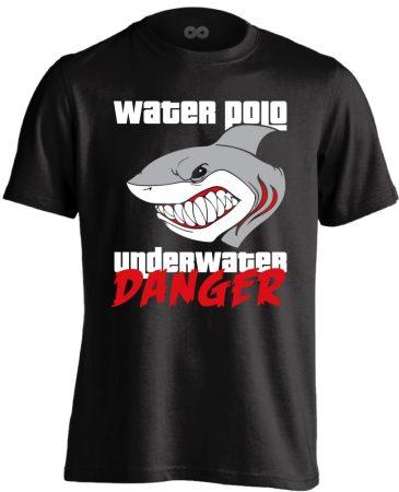 Underwater Danger vízilabdás férfi póló (fekete)