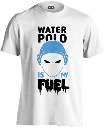 Water Polo Is My Fuel vízilabdás férfi póló (fehér)