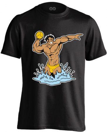 Cool Polo vízilabdás férfi póló (fekete)