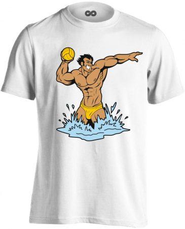 Cool Polo vízilabdás férfi póló (fehér)