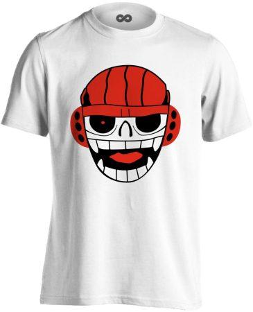 Skill Skull vízilabdás férfi póló (fehér)