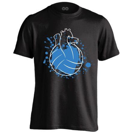 Water Polo Heart vízilabdás férfi póló (fekete)