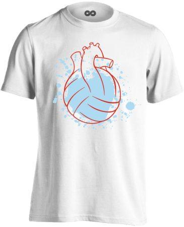 Water Polo Heart vízilabdás férfi póló (fehér)