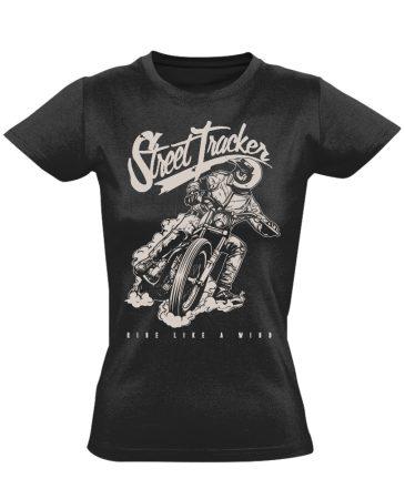 №15 motoros női póló (fekete)