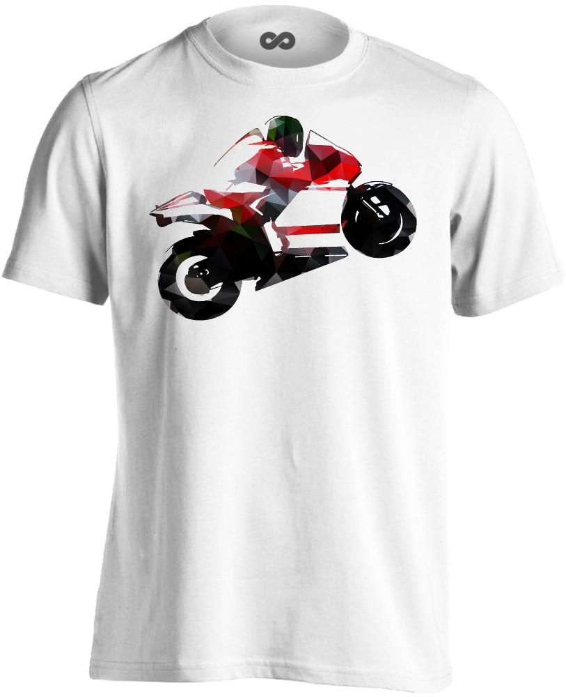376effb679 №14 motoros férfi póló (fehér)